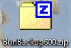 ダウンロードした「BunBackup500.zip」をフォルダへ解凍します。