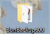 ここでは、「BunBackup500」というフォルダへ解凍しました。