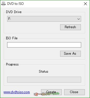 DVD to ISO--起動時の画面--オールフリーソフト