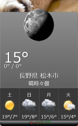 HTC Home--天気予報ウィジェット--オールフリーソフト