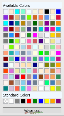 Metro Clock--色のリスト--オールフリーソフト
