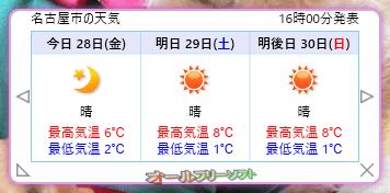 お天気状況--3日間--オールフリーソフト