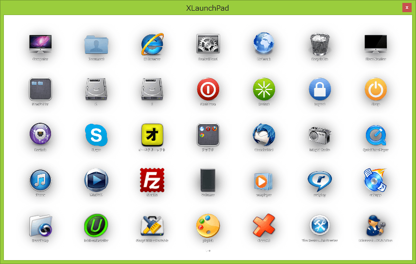 XLaunchPad--ウィンドウモード--オールフリーソフト