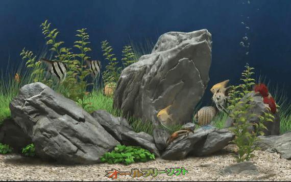 3D Aquarium Screensaver--スクリーンセーバー--オールフリーソフト