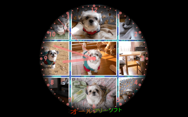 Photo Clock-7--スクリーンセーバー--オールフリーソフト