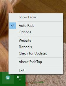 FadeTop--右クリックメニュー--オールフリーソフト