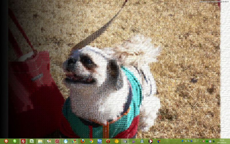 Animosaix--任意の画像でモザイク画像を作成--オールフリーソフト