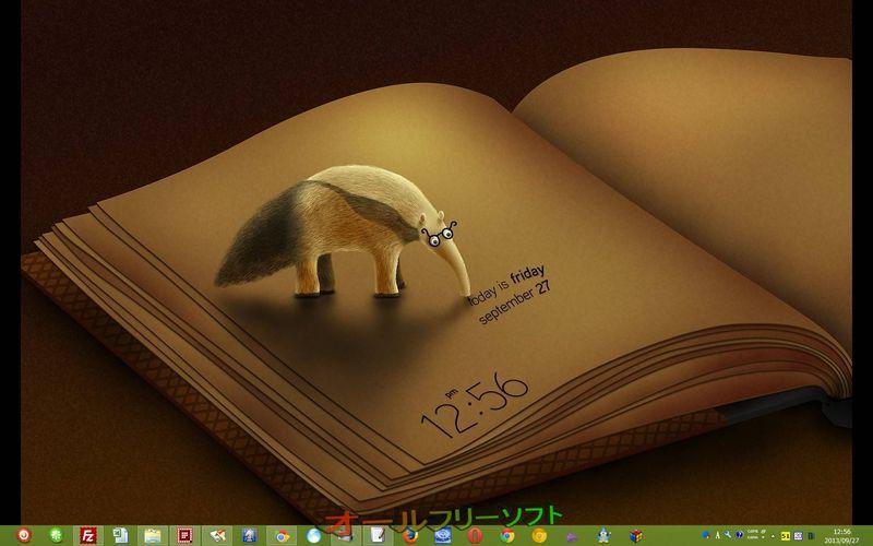 Dexclock--時計壁紙--オールフリーソフト