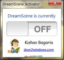 DreamScene Activator--起動時の画面/有効化前--オールフリーソフト