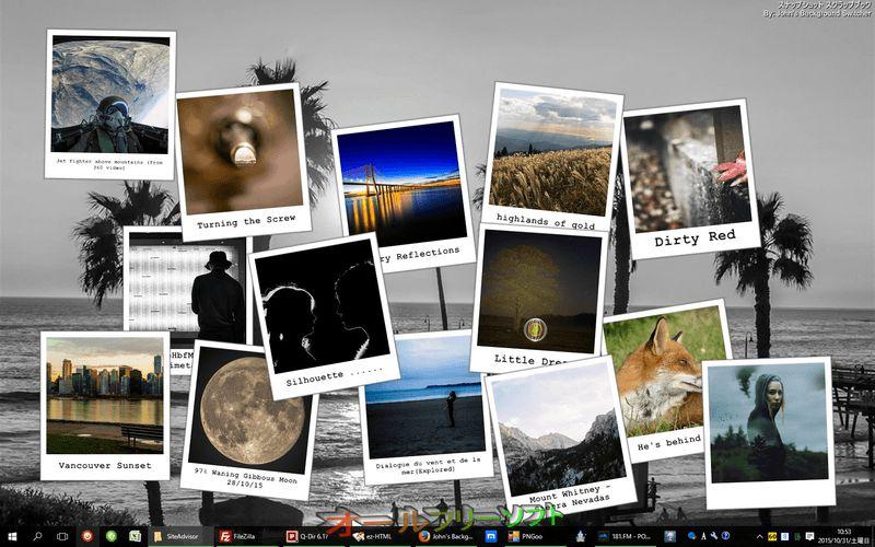 John's Background Switcher--ポラロイドパイル--オールフリーソフト