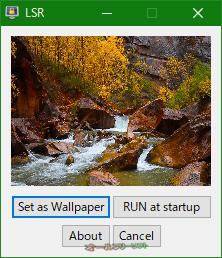 Lock Screen Reflection--起動時の画面--オールフリーソフト