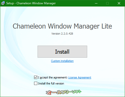 Chameleon Window Manager--オールフリーソフト