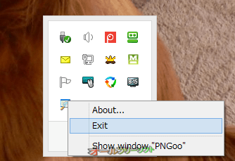 Simple Window Hiding--右クリックメニュー--オールフリーソフト