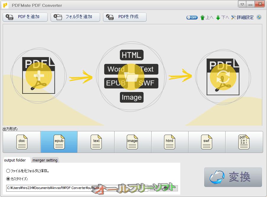PDFMate PDF Converter--起動時の画面--オールフリーソフト