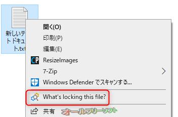 LockHunter--右クリックメニュー--オールフリーソフト