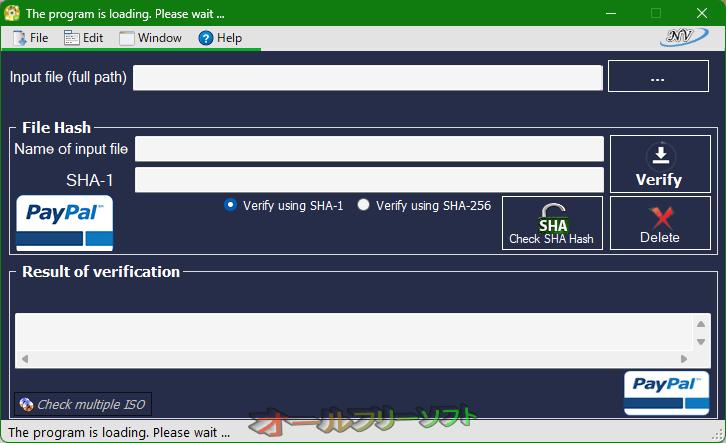 Windows and Office Genuine ISO Verifier--起動時の画--オールフリーソフト