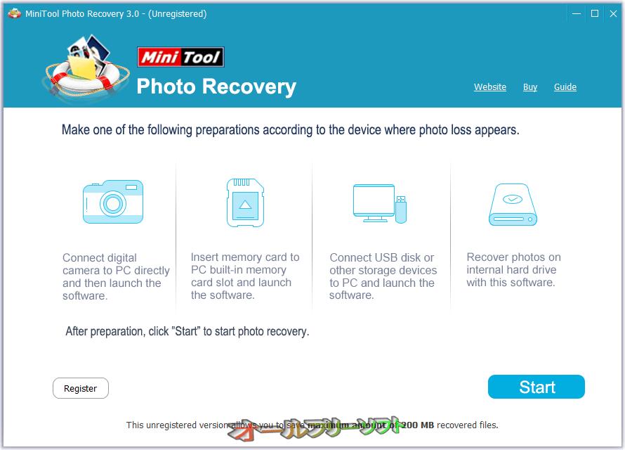 MiniTool Photo Recovery Free--起動時の画面--オールフリーソフト