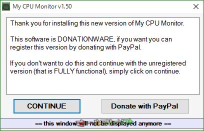 My CPU Monitor--登録を促す画面--オールフリーソフト