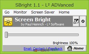 SBright--起動時の画面--オールフリーソフト