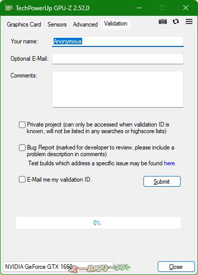 GPU-Z--Validation--オールフリーソフト