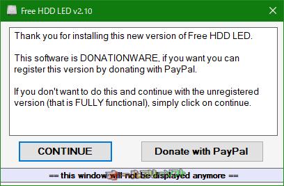 Free HDD LED--登録を促す画面--オールフリーソフト