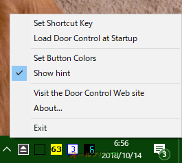 Door Control--右クリックメニュー--オールフリーソフト