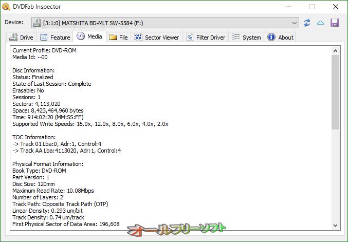 DVDFab Inspector--Media--オールフリーソフト