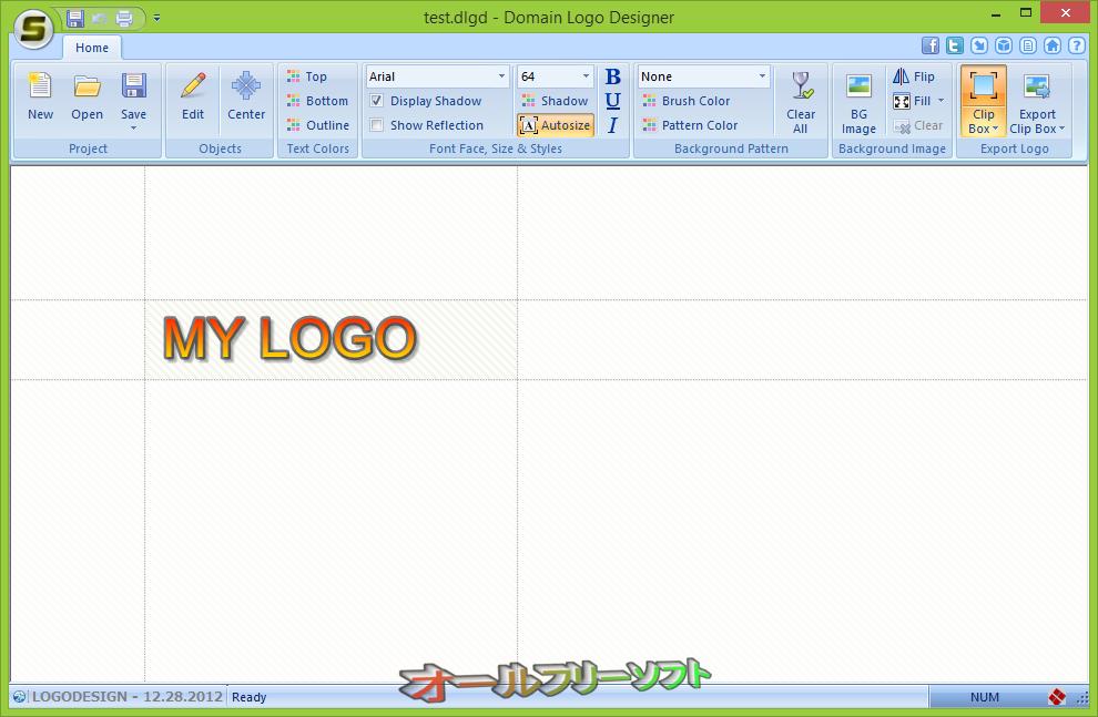 Domain Logo Designer--起動時の画面--オールフリーソフト