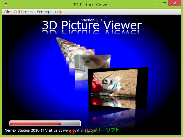 3D Picture Viewer--背景の色を変更--オールフリーソフト