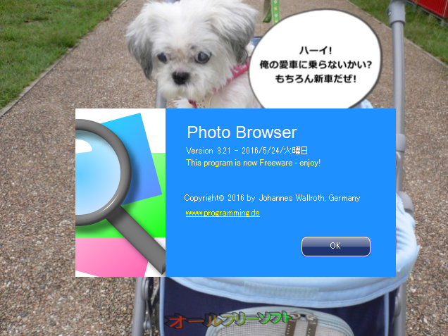 Photo Browser--About--オールフリーソフト
