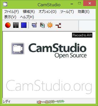 CamStudio--起動時の画面--オールフリーソフト