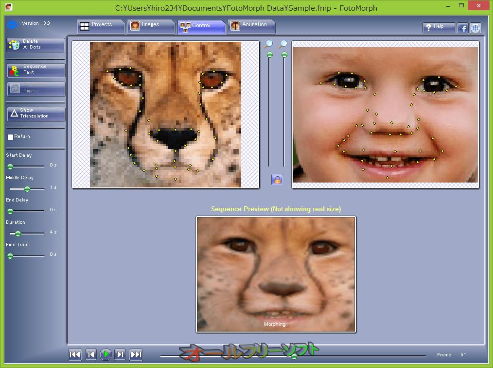 FotoMorph--Control--オールフリーソフト