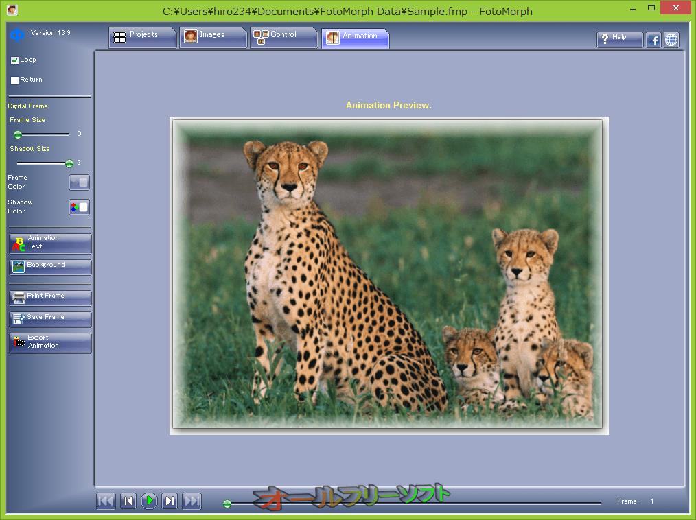 FotoMorph--Animation--オールフリーソフト