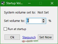 Start Volume--起動時の画面--オールフリーソフト
