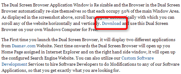 Daanav Dual Screen Browser--オールフリーソフト