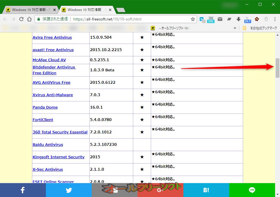 Minimal Scrollbar--オールフリーソフト