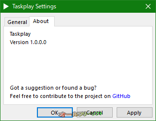 Taskplay--About--オールフリーソフト