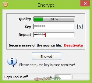 Drag'n'Crypt ULTRA--Encrypt--オールフリーソフト