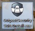 OutpostSecuritySuiteInstall.exeをダブルクリックして、インストールを始めます