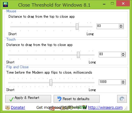 Close Threshold for Windows 8.1--起動時の画面--オールフリーソフト