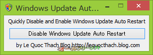 Disable Windows Update Auto Restart--起動時の画面--オールフリーソフト