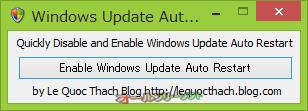 Disable Windows Update Auto Restart--起動時の画面/自動再起動が無効時--オールフリーソフト