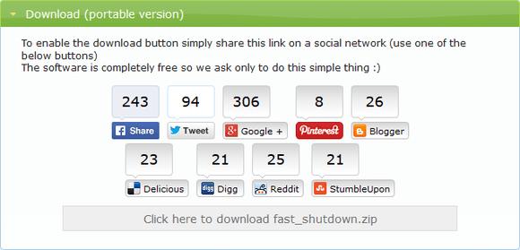 Fast Shutdown--オールフリーソフト