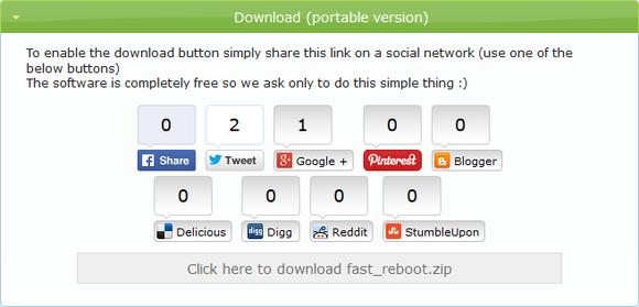 Fast Reboot--オールフリーソフト