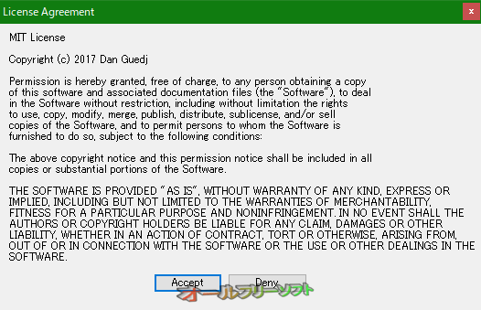 PC Sleeper--License Agreement--オールフリーソフト