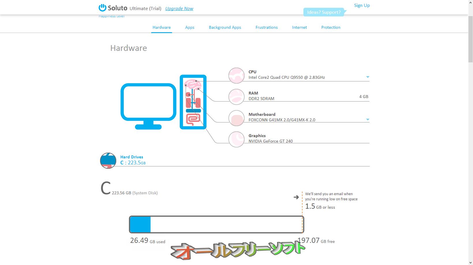 Soluto--Hardware--オールフリーソフト