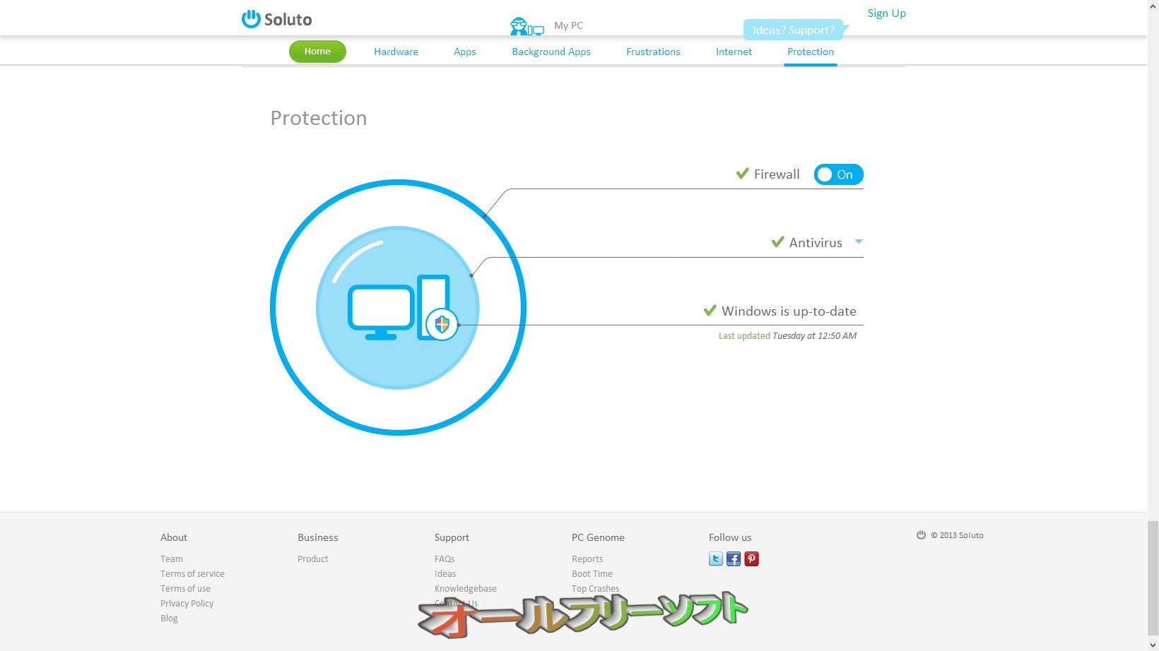 Soluto--Protection--オールフリーソフト