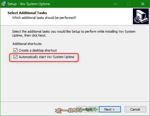 Vov System Uptime--オールフリーソフト
