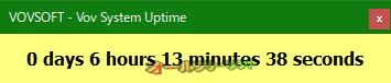 Vov System Uptime--稼働時間--オールフリーソフト