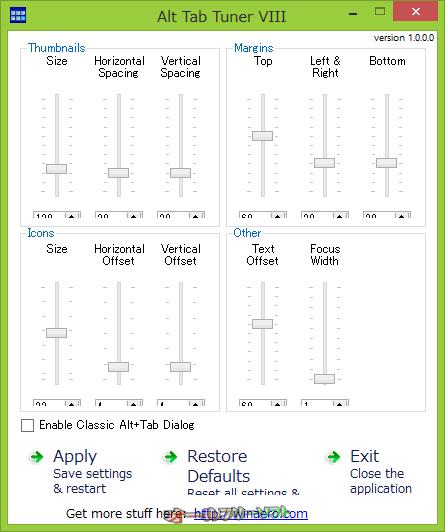 Alt Tab Tuner VIII--起動時の画面--オールフリーソフト